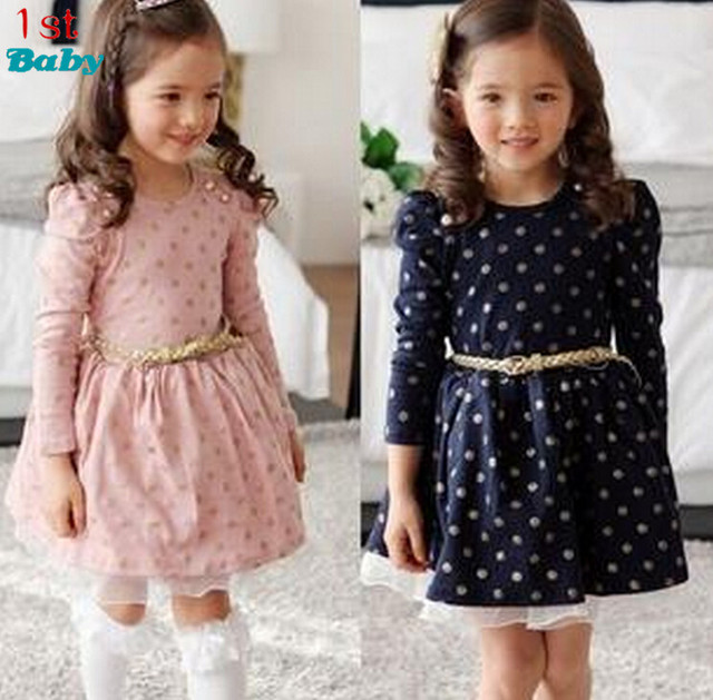 2017 new Girls dresses for baby children Purple pink roses New Year princess Toddler Girl Dress, Kid Brand clothes