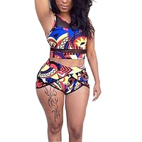 HTB1T8QGLNYaK1RjSZFnq6y80pXaI 2018 Sexy Bandage Aztec Biquini String Strappy Swim Wear Bathing Suit Swimsuit Beachwear Swimwear Women Brazilian Bikini