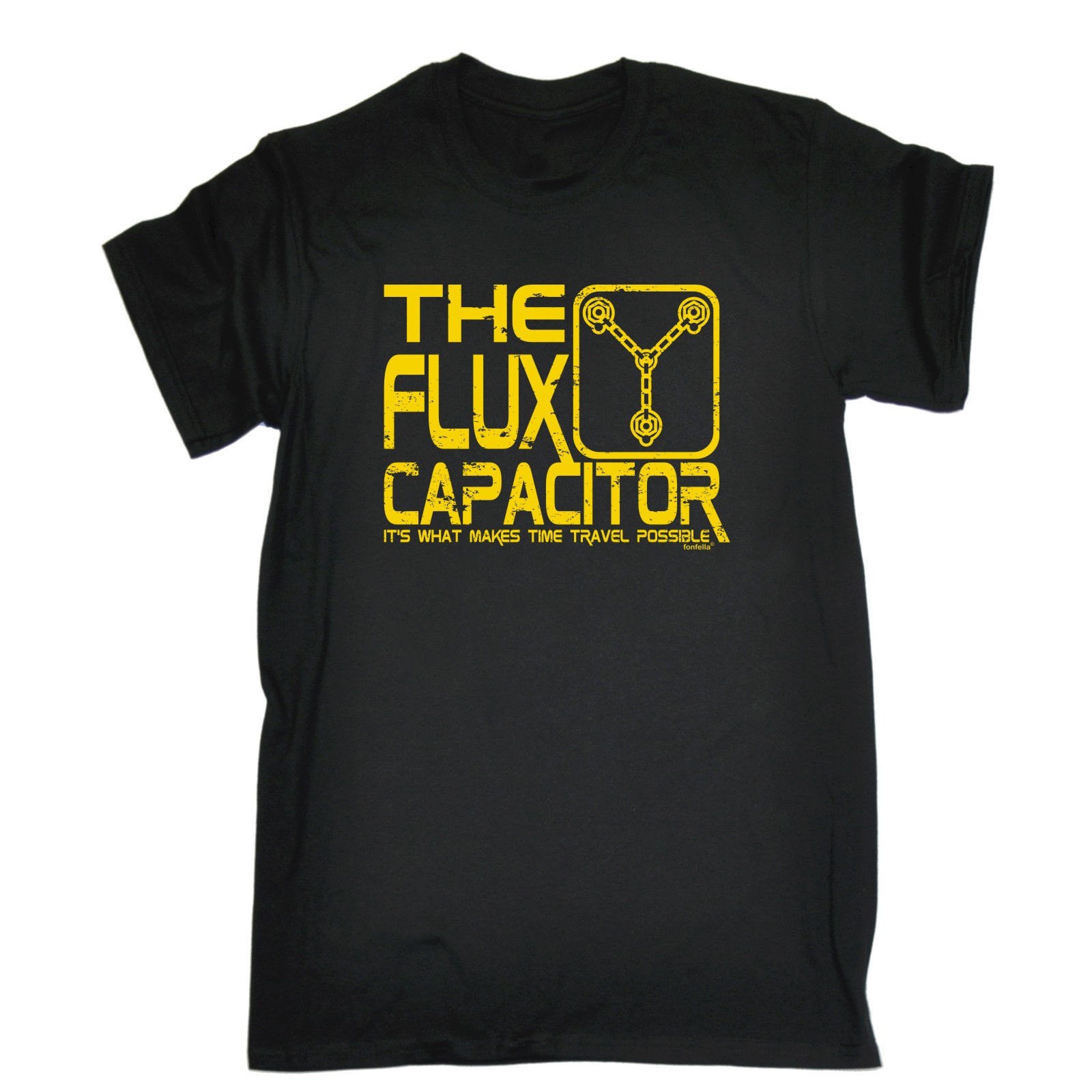 THE FLUX CAPACITOR TIME TRAVEL POSSIBLE T-SHIRT Funny Birthday Gift 123t Present Cheap Crew Neck MenS Top Tee T Shirt