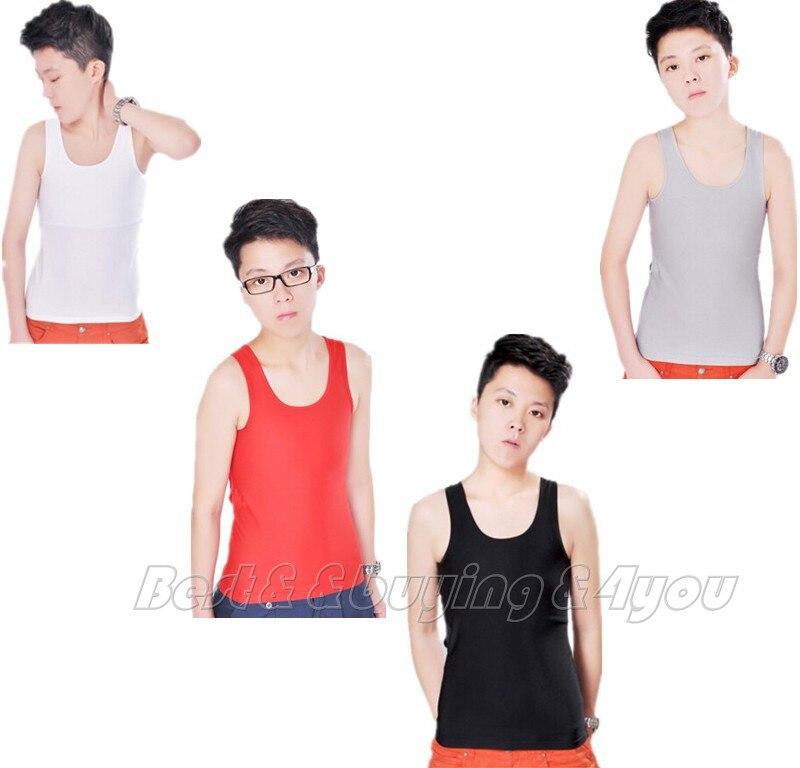 Streng Riuooplie Unisex Les Lesbische Adem Mesh Lange Borst Binder Trans Hemd Vest S-2xl Duurzame Modellering