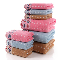 100 Cotton Bath Towel For Adults Cute Dots Patterns Quick Dry Beach Towel Rectangle Towels Luxury