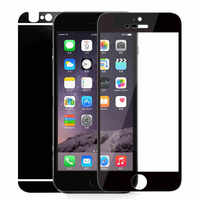 for iPhone 6Plus Screen Protector Front and Back Colorful Plating Tempered Glass Film Mirror Effect Cover for iPhone 6S Plus