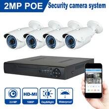 JOOAN 1080 P 2MP Caméra de Sécurité Système 48 V POE NVR de Pentecôte 4 pcs 1920*1080 ONVIF POE IP caméra 4CH CCTV Vidéo Surveillance