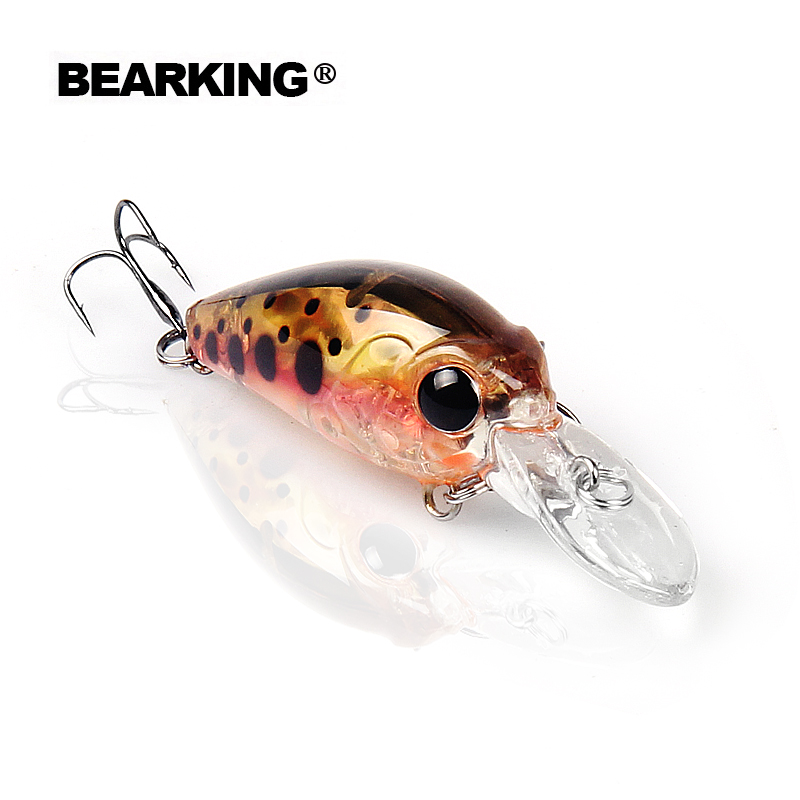 Bearking Hot model 2017 professional fishing lures 10 colors minnow,crank 35mm/3.7g, depth 2.0m fishing tackle hard baits N 30pcs set fishing lure kit hard spoon metal frog minnow jig head fishing artificial baits tackle accessories