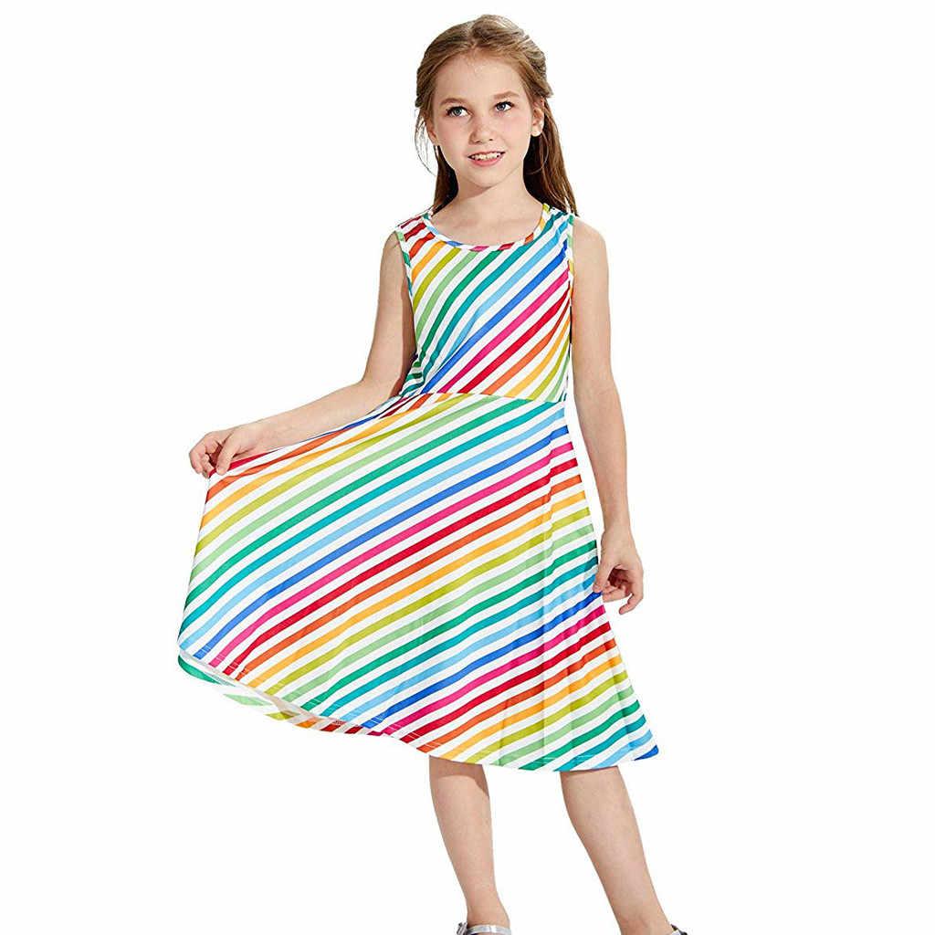Молодежи подростков без рукавов для девочек планет Платье с принтом школьная вечерние хлопья одежда онлайн хлопок детская мягкая детская одежда