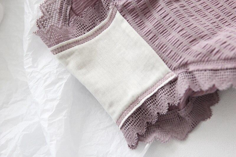 Image 5 - Lace Womens Panties Fashion Comfortable Womans Underpants  Antibacterial Breathable Elastic Color Briefs Females Panties  Womenwomens panties