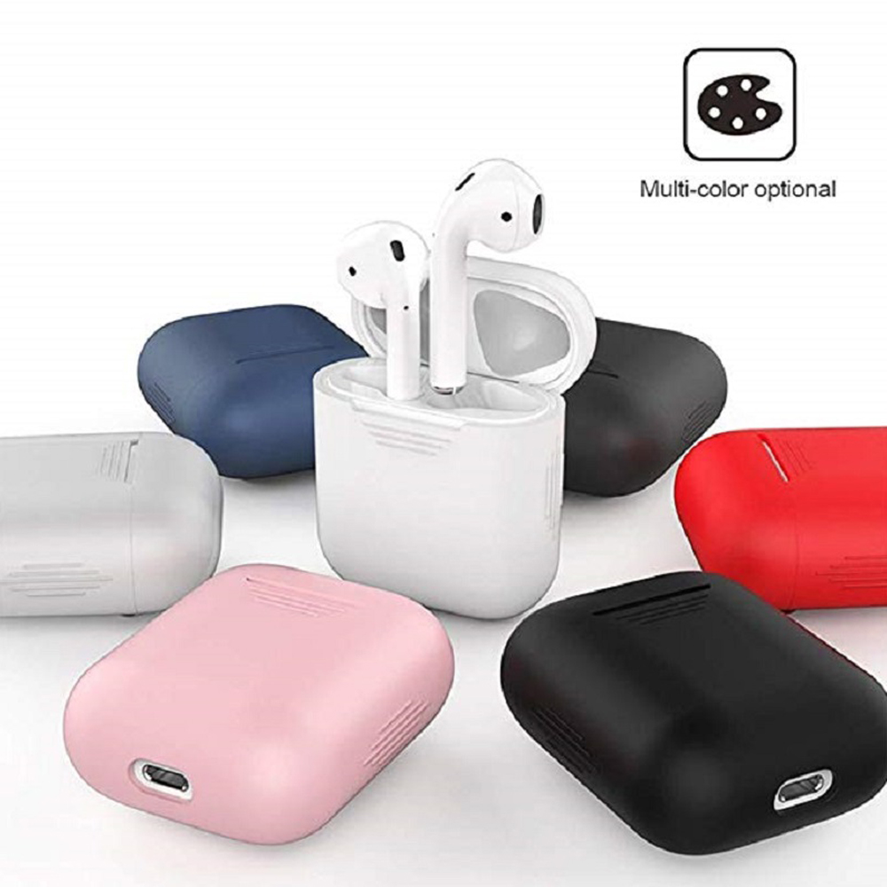 Image 2 - Earphone Case For Apple AirPods 2 Silicone Cover Wireless Bluetooth Headphone Air Pods Pouch Protective For AirPod Silm Case-in Earphone Accessories from Consumer Electronics