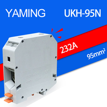 2pcs/lot UKH-95N UK-95N 95mm2 232A Group Type Connection Terminal Terminal Guide Type Will Electric Current Connection Row original st35 spring type earthing terminal row