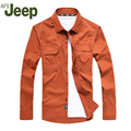 2016 AFS JEEP autumn  long-sleeved  shirt  leisure Single breasted cotton shirt Big yards men's clothing shirt   99