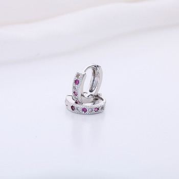 Kinitial New Hoop Earring Charm Colorful Classic Baby CC Earring Cubic Zirconia Earring For Baby Teen Girls Jewelry A1174 4
