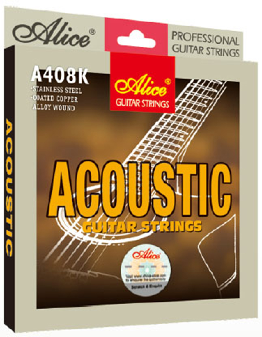 6pcs/set Guitar Strings Coated Steel Coted Copper Alloy Wound Alice A408K