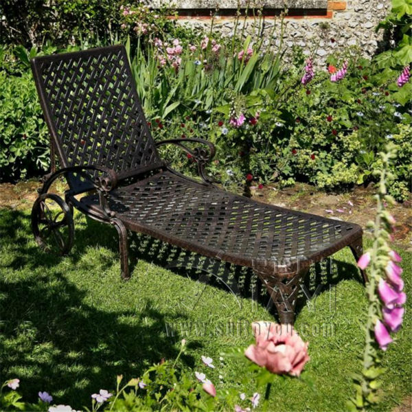 High Quality cast aluminum Portable Outdoor Leisure Chair  Easy Sun Lounger Lying Chair Breathable Waterproof Furniture 240337 ergonomic chair quality pu wheel household office chair computer chair 3d thick cushion high breathable mesh
