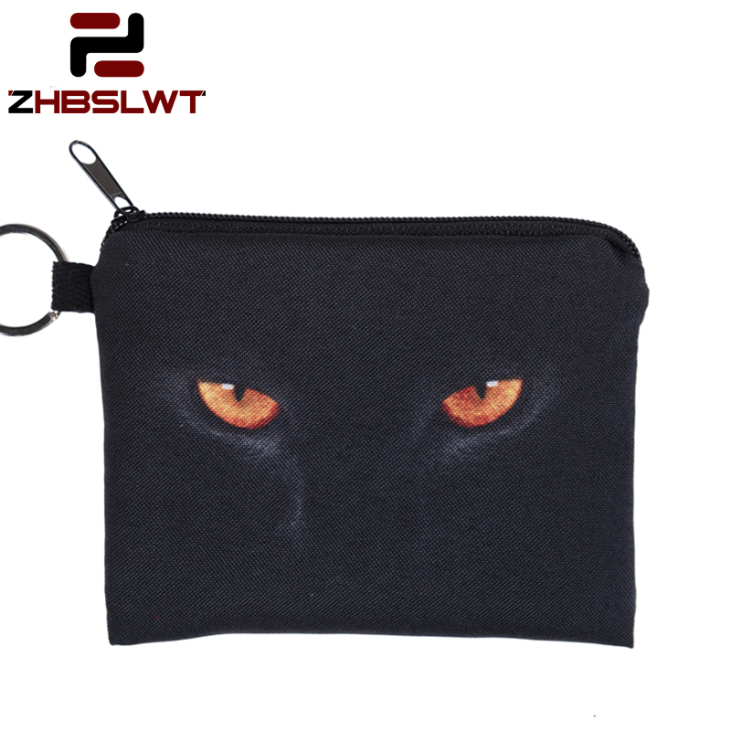 Cooperative Zhbslwt 1pcs 3d Print Coin Purse New Evil Eyes Cat Zipper Case Female Makeup Buggy Bag Wallet/child Purse Pouch Drop Shipping- Coin Purses Luggage & Bags