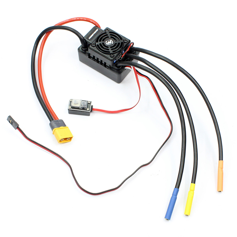 Hobbywing EZRUN WP SC8 120A Waterproof Speed Controller Brushless ESC for RC Car Short Truck wp sc8 waterproof 120a brushless esc splash water proof dust ezrun wp sc8 esc 2 in 1 multi functional professional programming