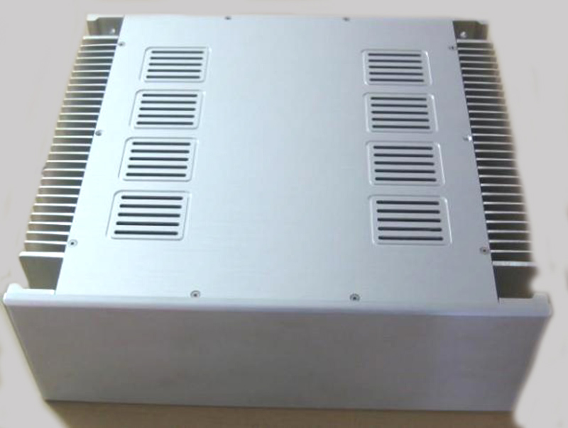 4315 Full aluminum enclosure Power font b amplifier b font chassis box size 432 150 370mm