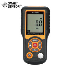 SMART SENSOR HT-1200 Portable Ultrasonic Thickness Meter with Four-digit LCD Display Professional Digital Instrument with Probe цены