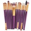 15 PCS Pincéis de Maquiagem conjunto COMPLETO kit Kabuki Fundação Face Powder EYE Cosméticos