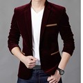 Формальные Мужские Blazer Мужские Костюмы Куртки Slim Fit One button вино красное Пальто Тонкий Мужские Пиджаки Костюм смокинги Свадебные jaqueta X06