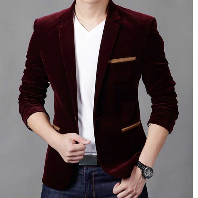 Formal Male Blazer Men Suits Jackets Slim Fit One button wine red Coats Slim Mens Blazers Suit  tuxedos Wedding jaqueta X06