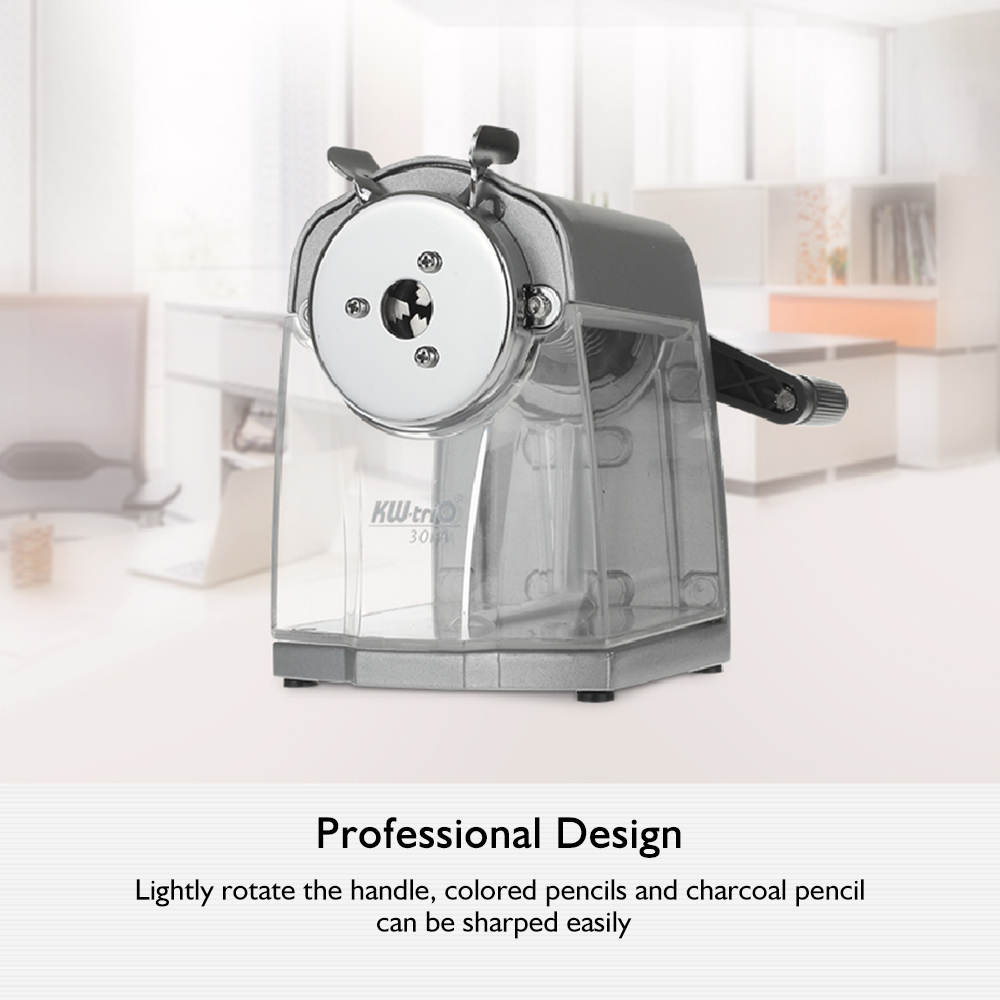 Image 4 - Manual Pencil Sharpener Handheld Operation Transparent Receptacle Helical Cutter Stationary for School Office Home-in Pencil Sharpeners from Office & School Supplies