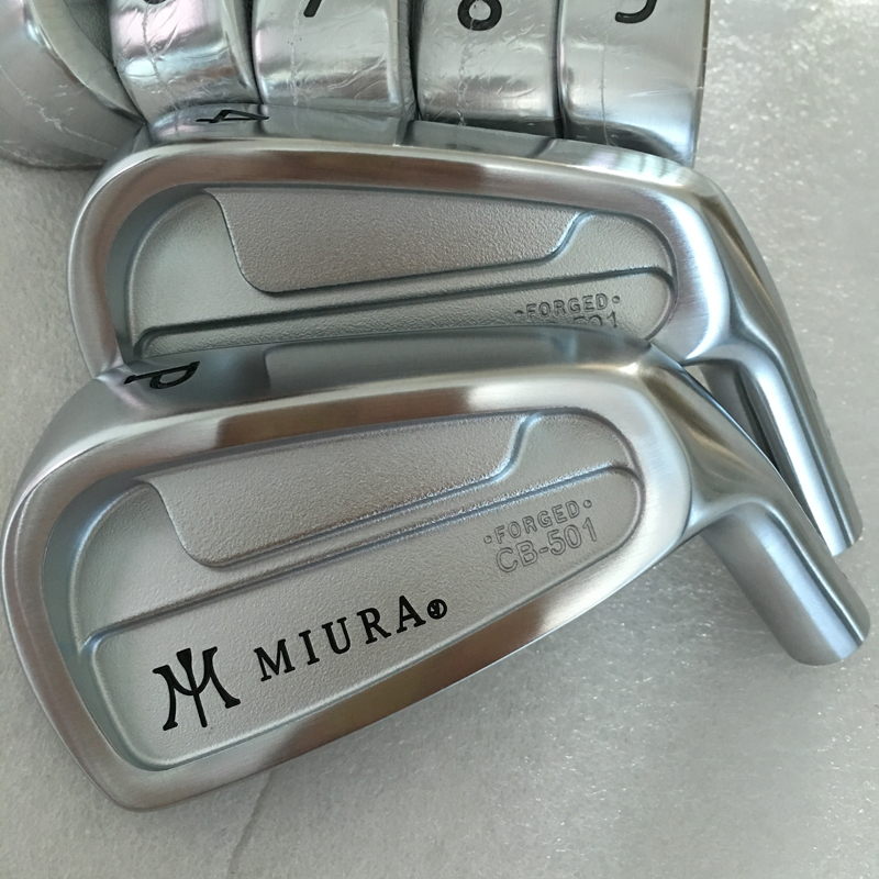 New Mens Golf heads MIURA CB-501 Golf irons head set 4-9P golf Clubs no shaft Free shipping new golf head romaro alcobaca tour stream forged carbon steel golf wedge head have 50 56 58 deg loft no golf shaft free shipping