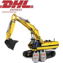 2017 New 1123Pcs Technic Series Motorized Excavator Model Building Kit Blocks Bricks Toys For Children Gift Compatible With 8043