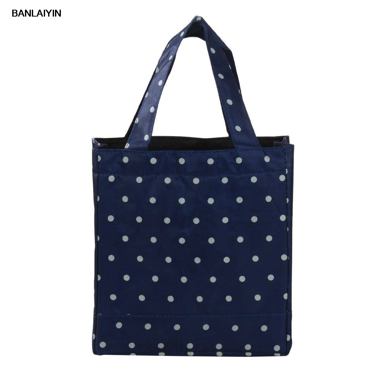 Wave Point Thermal Insulated Little Lunch Bag Kids Picnic Box Thermal Insulated Lace Dot Lunch Box Picnic