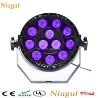 Niugul 36 W LED PAR de Luz Violeta LED Colada de La Pared Luz de la Etapa de KTV Disco Party Mostrar púrpura Lámpara Led Spotlight DMX512 LED PAR Plana