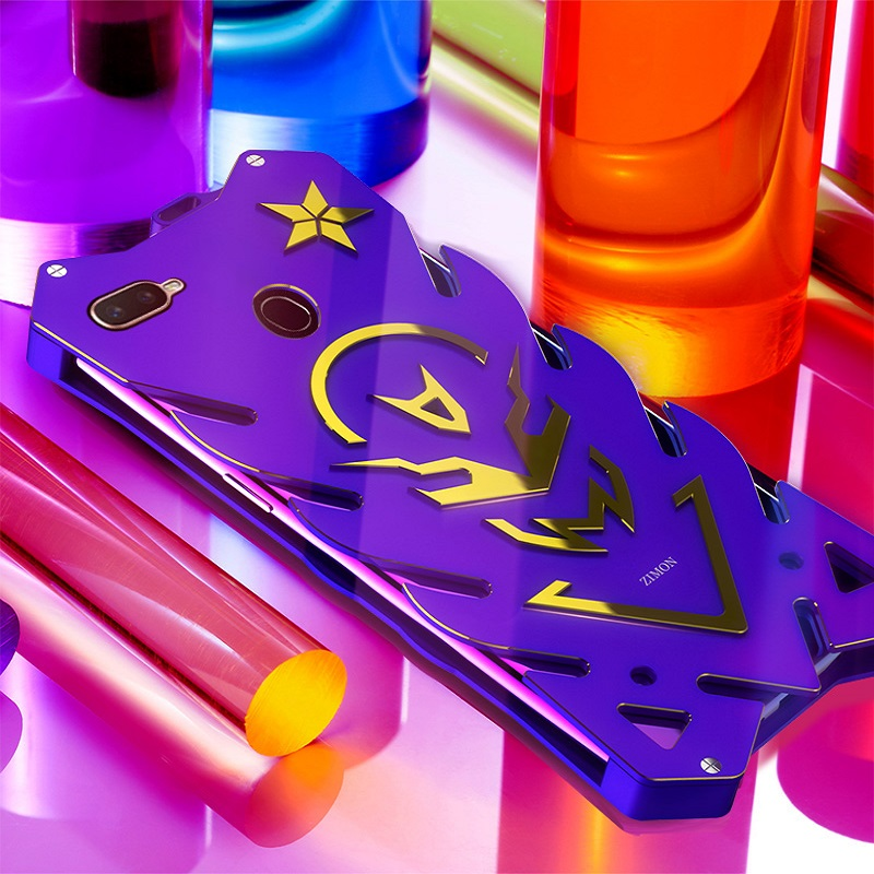 Metal case for OPPO A7 A7X Rigid Neat case for OPPO R17 R17 Pro Powerful Shockproof case for OPPO R15X K1 Zimon heavy duty coque-in Fitted Cases from Cellphones & Telecommunications