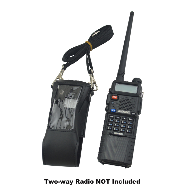 BAOFENG 5r Walkie Talkie Soft Leather Case Holder For 3800mAh Extended Baofeng Radio UV-5R BF-UV5R UV-5RA UV-5RE