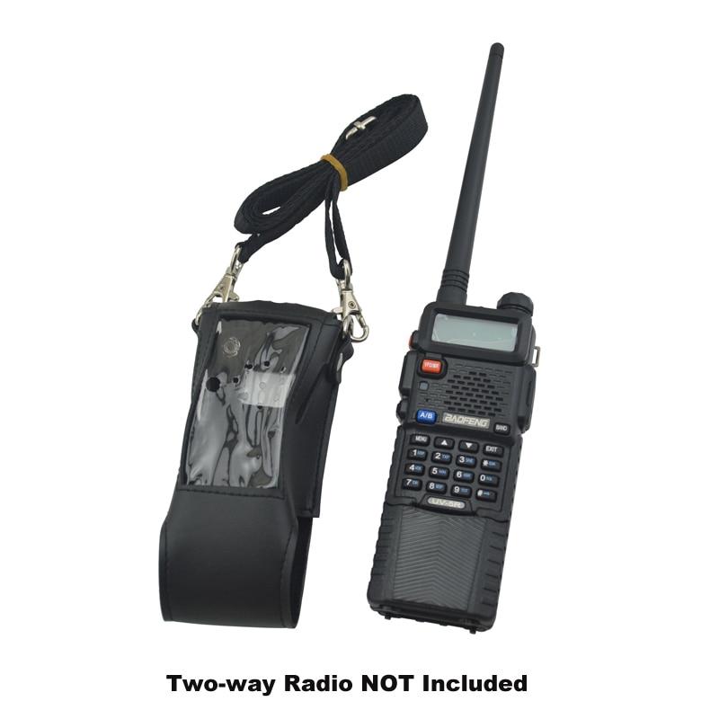 BAOFENG 5r Walkie Talkie Soft Leather Case Holder For 3800mAh Extended Baofeng Radio UV-5R BF-UV5R UV-5RA UV-5RE