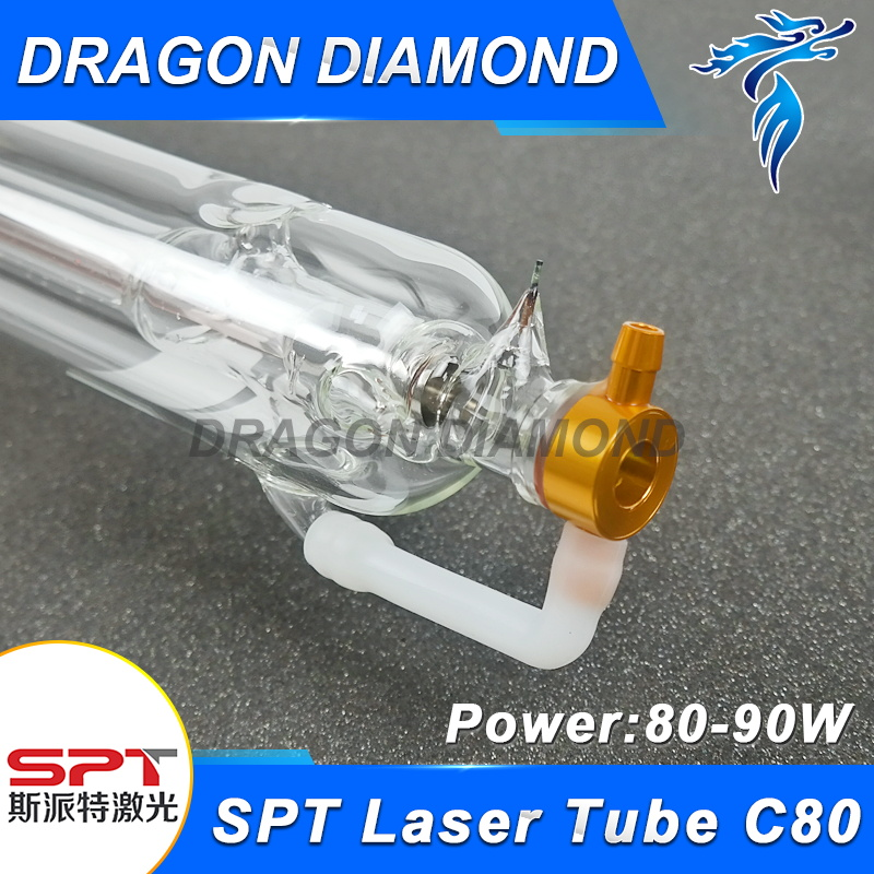 SPT 80W CO2 Laser Tube Wooden Case Box Packing Length 1600mm Dia. 60mm for CO2 Laser Engraving Cutting Machine 80 1600