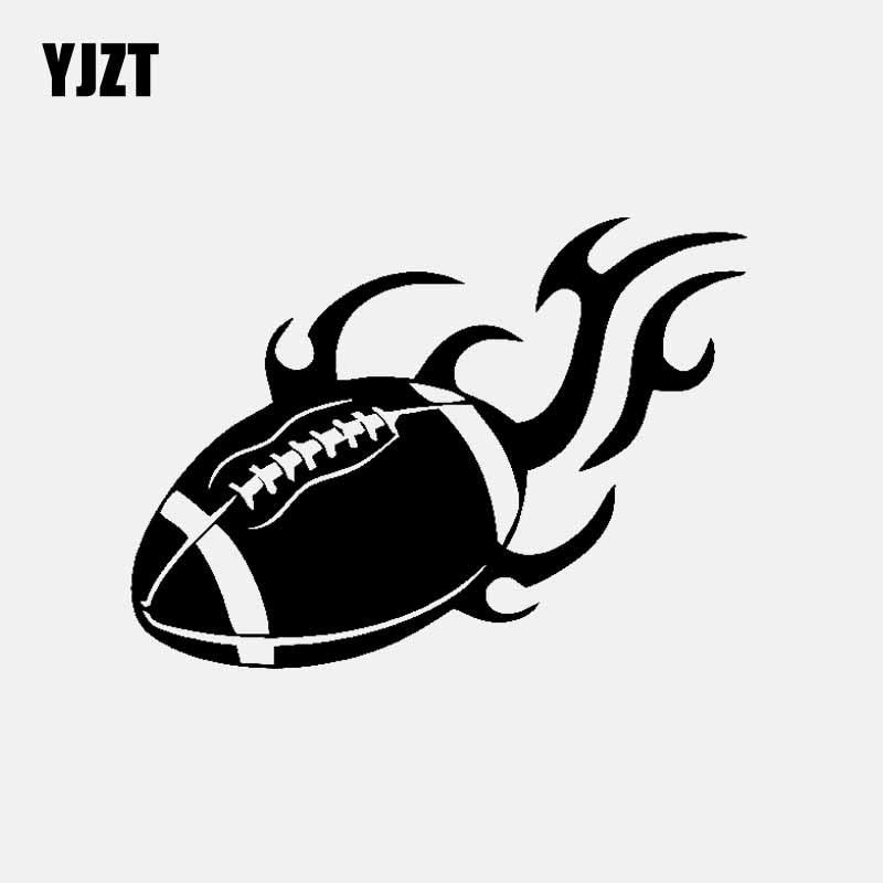 YJZT 14CM*10.1CM American Football Funny Car Sticker Vinyl Decal Black/Silver C3-1612
