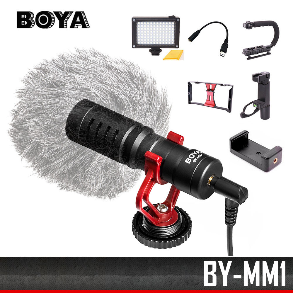 D'origine BY-MM1 DSLR MICRO Vidéo caméra Microphone Youtube Blogging Enregistrement Mic pour Canon Nikon Sony iPhone Smartphone Osmo
