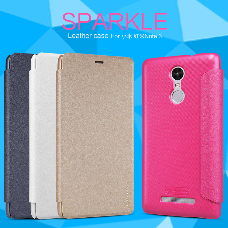 Case For XIAOMI RedMi Note 3 Pro NILLKIN Sparkle Super Thin Flip Cover Case Design Luxury Brand Leather Cover For Redmi Note 3
