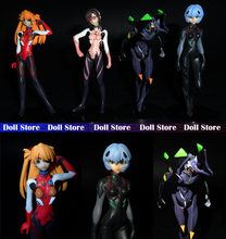 10.5cm PVC 4pcs/lot EVA Ayanami Rei Soryu Asuka Langley Action Figures PVC brinquedos Collection Figures toys(China)