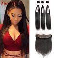 Brazilian Bundles With Frontal Closure 3 Bundles Straight Weave With Closure Brazilian 13x4 Full Lace Frontals And Bundle Deals