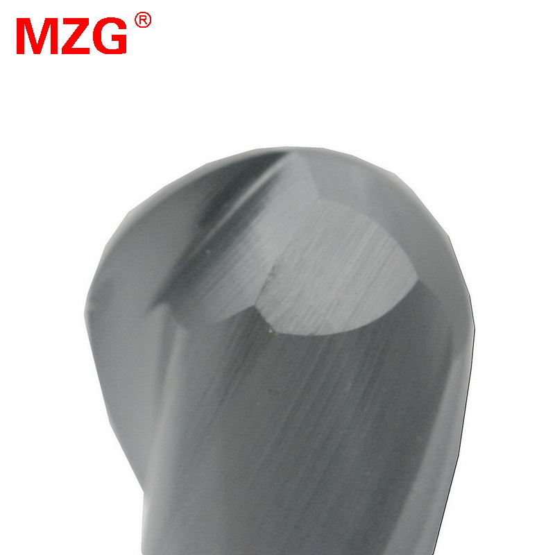 MZG 2 Flöte Verlängern Kugelfräser 100L Schneiden HRC50 4mm 5mm Fräsbearbeitung Wolfram Stahl Sprial Fräser