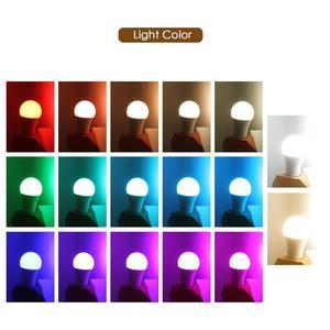 Image 4 - LED RGB لمبة E27 5 واط 10 واط 15 واط RGBW RGBWW الأضواء الملونة ديكور المنزل شريط حفلة عيد الميلاد طاولة ليلية مصباح الأشعة تحت الحمراء عن بعد 220 فولت 240 فولت