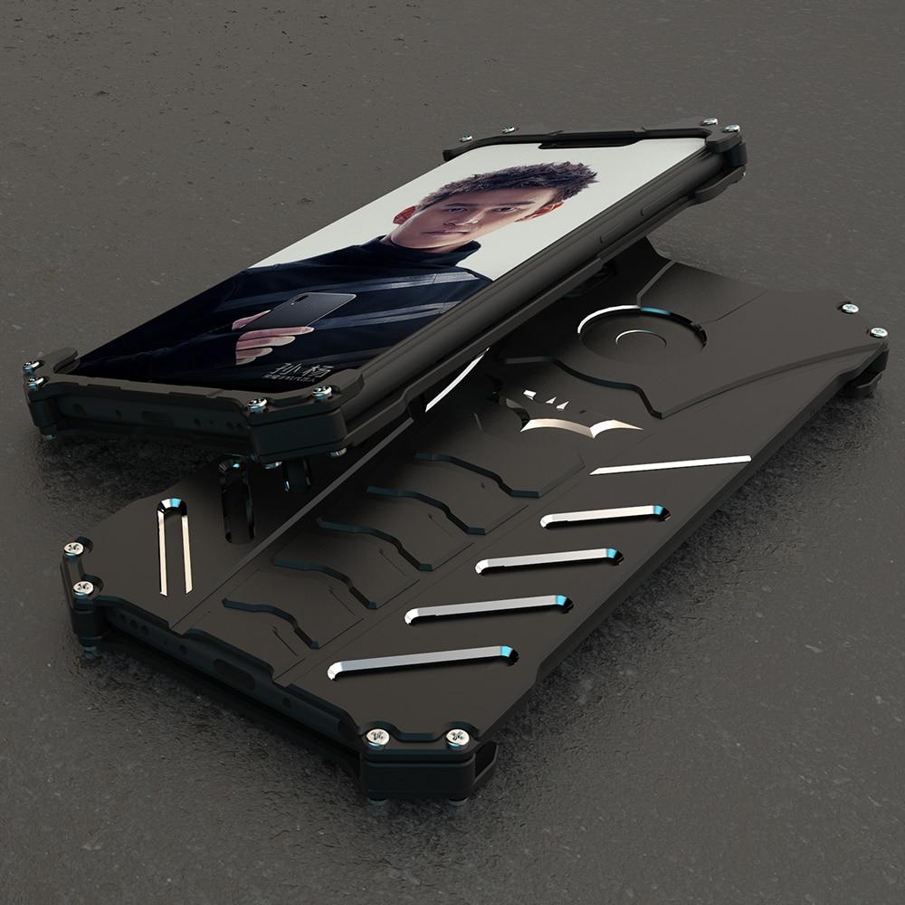 R-JUST For Huawei Honor Play V20 Magic 2 BATMAN Luxury Doom Heavy Duty Armor Metal Aluminum CNC Phone Cases For Nova 4E P30 Lite