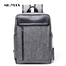 MR.YLLS Fashion Men Travel Backpack Canvas Zipper Leisure Backpack Male Laptop 14 Inch Notebook Computer Bags School Rucksack