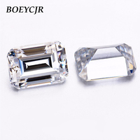 BOEYCJR Custom D Color Emerald Cut Brilliant Cut Moissanite Loose Stone Excellent Cut Jewelry Making Engagement Ring