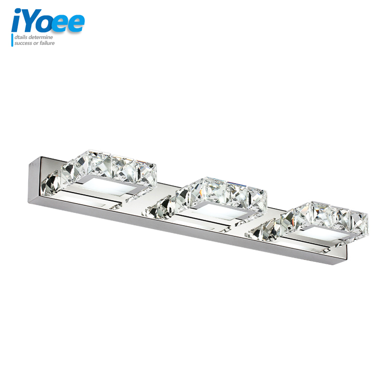 Modern 9W 46cm Crystal indoor bathroom LED wall light lamp bedroom vanity mirror light Cabinet corridor wall sconce lighting modern minimalist waterproof antifog aluminum acryl long led mirror light for bathroom cabinet aisle wall lamp 35 48 61cm 1134