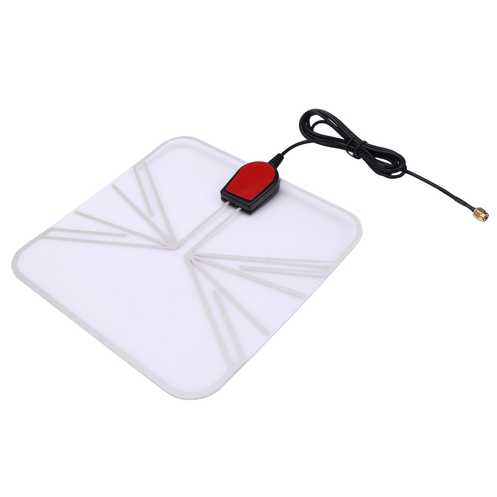 Portable Indoor Digital TV/FM Antenna HD TV Antenna Pad 470-860 MHz TV Free Digital Analog Signal Receiver Panel 1.5m Cable cw 189 hd ground tv receiver antenna white