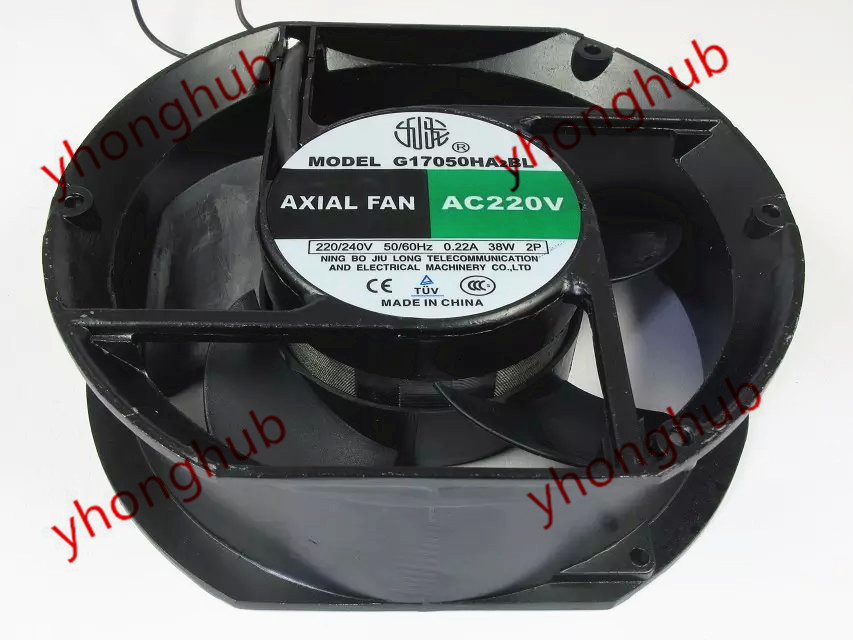 Emacro For AXIAL FAN G17050HA2BL AC 220/240V 50/60HZ 170x170x50mm Server Round FanEmacro For AXIAL FAN G17050HA2BL AC 220/240V 50/60HZ 170x170x50mm Server Round Fan
