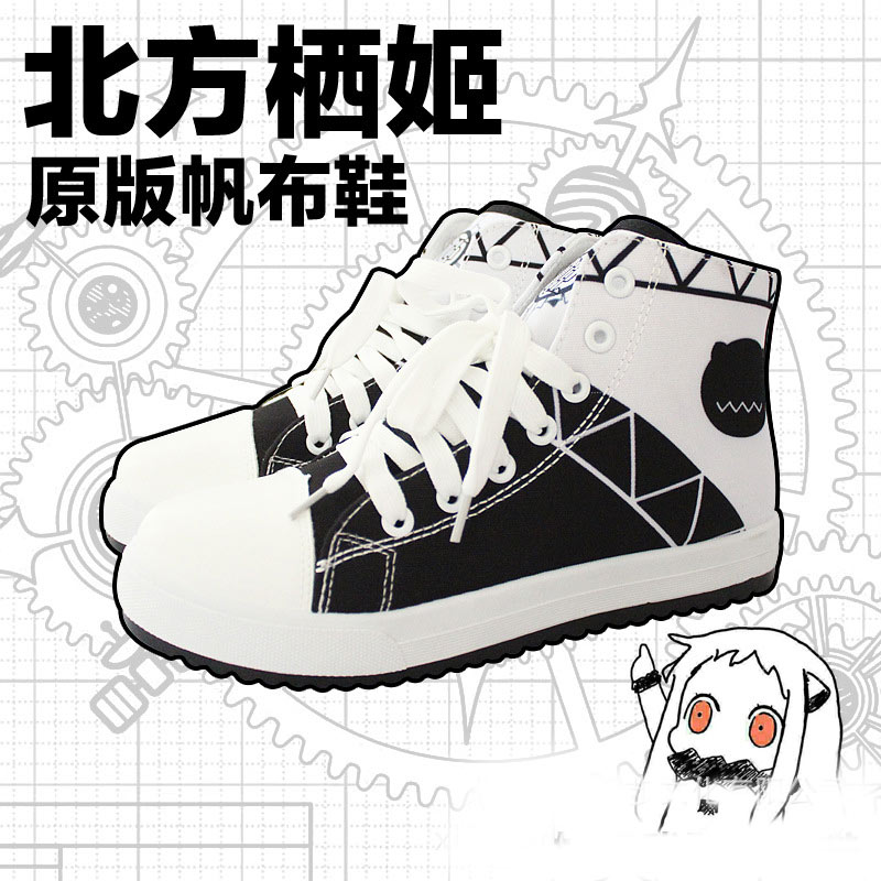 New Kantai Collection Shoes casual Women men Japanese Anime hoppou seiki Cosplay high quality Canvas Shoes