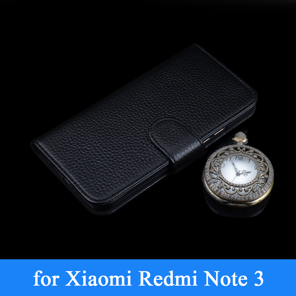 100% Genuine Leather Business Phone Case for Xiaomi Redmi Red Rice Hongmi Note 2 Note2 Wallet Design Flip Folio Cover Skin