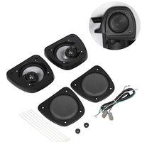 Black Audio Fairing Lower Speaker Kit For Harley Electra Road Street Glide Standard FLHTC FLHX FLTRX FLHTCUTG FLHR 06 13