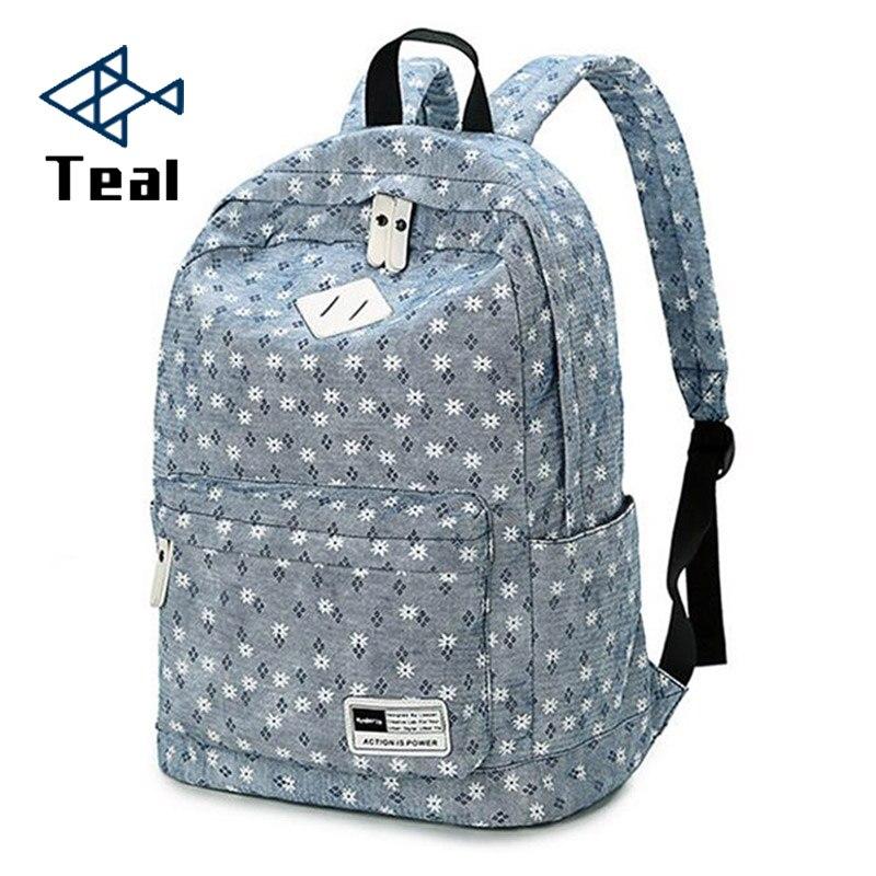 2018 Women Backpacks Canvas School Bags for Teenagers Girls Bolsas Femininas printing Laptop Travel Bags large capacity женские блузки и рубашки hi holiday roupas femininas blusa blusas femininas