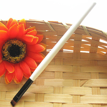 2015 New Newn Womens Girls White Handle Oblique Angled Cosmetic Eyebrow Brush Pen Eye Liner Brow Tool 6F62